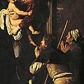 Madonna Dei Pellegrini Or Madonna Of Loreto by Michelangelo Merisi da Caravaggio
