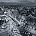 Madrid City Lights by Javier De La