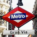 Madrid Metro Sign by Perry Van Munster