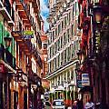 Madrid Narrow Street by Cary Shapiro