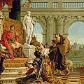 Maecenas Presenting The Liberal Arts To The Emperor Augustus by Giovanni Battista Tiepolo