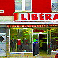 Magazin Liberal Dress Shop On Rue Notre Dame Montreal St.henri City Scenes Carole Spandau by Carole Spandau