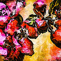 Magenta Flowers  -- Cubism by Charles Muhle