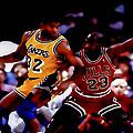 Magic And Jordan At Work by Brian Reaves