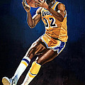 Magic Johnson - Lakers by Michael  Pattison