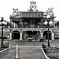 Magic Kingdom Train Station In Black And White Walt Disney World by Thomas Woolworth