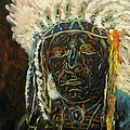 Magic Powers,  Native American Indian Chief by Sandra Reeves