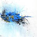 Magical Blue 1- Abstract Art by Ismeta Gruenwald