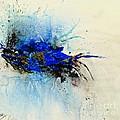 Magical Blue-abstract Art by Ismeta Gruenwald