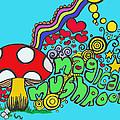 Magical Mushroom Pop Art by Moya Moon