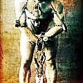 Magician Harry Houdini In Chains   by Jennifer Rondinelli Reilly - Fine Art Photography