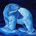 Polar Bear Art Blue Prince Lord Of The North by Christine Montague