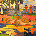 Mahana No Atua Aka. Day Of The Gods by Paul Gauguin