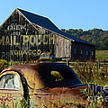 Mail Pouch Barn And Old Cars by Paul Ward
