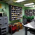 Mail Room Aboard Uss Missouri by Stocktrek Images