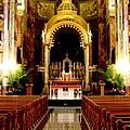 Main Altar Of Basilica by Karen Majkrzak