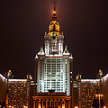 Main Building Of Moscow State University At Winter Evening - 2 Featured 3 by Alexander Senin
