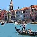 Main Canal Venice Italy by John Malone Halifax Graphic artist