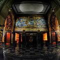 Main Lobby Of City Hall Buffalo Ny Rear by Michael Frank Jr