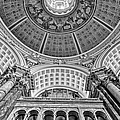 Main Reading Room Library Of Congress Bw by Susan Candelario