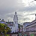 Main Square In Quito Ecuador by Al Bourassa