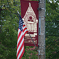 Main Street Flags Dwight Il by Thomas Woolworth