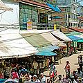 Main Street Marketplace In Tachilek-burma by Ruth Hager