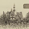 Main Street Sleeping Beauty Castle Disneyland Heirloom 03 by Thomas Woolworth