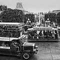 Main Street Transportation Disneyland Bw by Thomas Woolworth