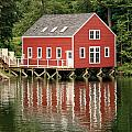 Maine Boat House by Sharon Horn
