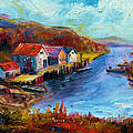 Maine Harbor by Leonard Holland