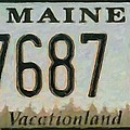 Maine License Plate by Jeelan Clark