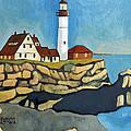 Maine Lighthouse by Robert Holewinski