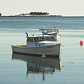 Maine Lobster Boats In Winter by Keith Webber Jr