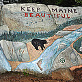 Maine Rock Painting by Glenn Gordon
