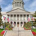 Maine State House V by Clarence Holmes