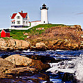 Maine's Nubble Light by Mitchell R Grosky