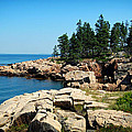 Maine's Rocky Coastline by Mountain Dreams