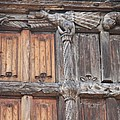 Maison De Bois Macon - Detail Wood Front by Christiane Schulze Art And Photography