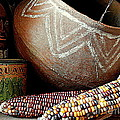 Pottery And Maize Indian Corn Still Life In New Orleans Louisiana by Michael Hoard