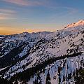 Majestic Mount Baker Sunrise Light by Mike Reid