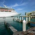 Majesty Of The Seas Docked At Key West Florida by Amy Cicconi
