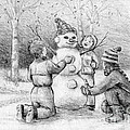 Making A Snowman by Elaine Berger