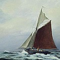 Making Sail After A Blow by Vic Trevett