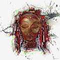 Makonde Mapiko - Lipiko Mask by Serge Averbukh