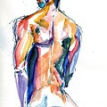 Male Nude Back Torso by Joose Hadley