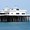 Malibu Pier On A California Blue Sky Day by Elaine Plesser