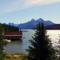 Maligne Lake Boathouse by Karen Wiles