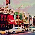 Mamma Mia's Italian Eatery Foods To Remember Niagara Falls Landmark Diner Ontario Paintings Cspandau by Carole Spandau