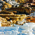 Mammoth Hot Springs Rock Formation No1 by Josh Bryant
